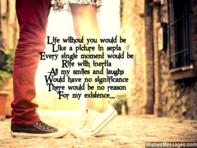 Sweet poem for girlfriend you are my reason for existence