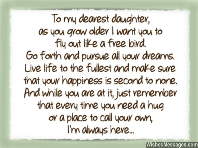 Sweet Quote For A Daughter Beautiful Note From Mom Dad