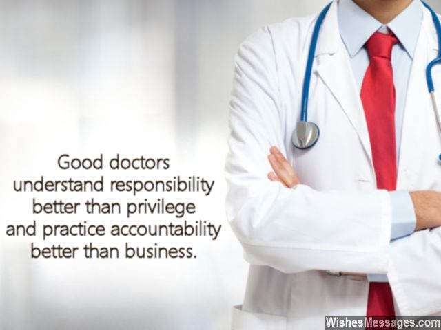 Good doctors quote responsibility accountability