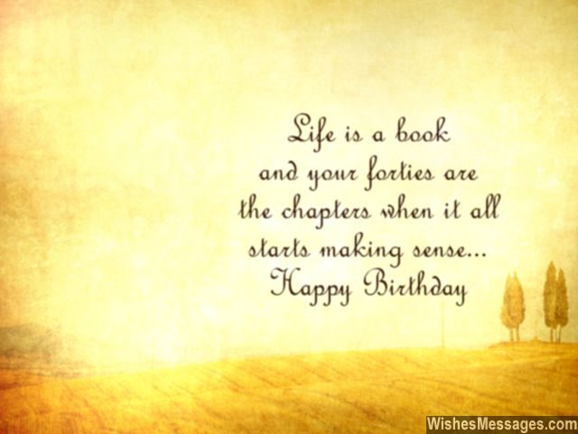 Happy Birthday Wishes Quotes 40Th Birthday Wishes Quotes And Messages  Wishesmessages
