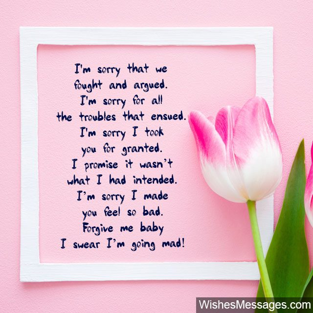 I Am Sorry Messages for Wife: Apology Quotes for Her