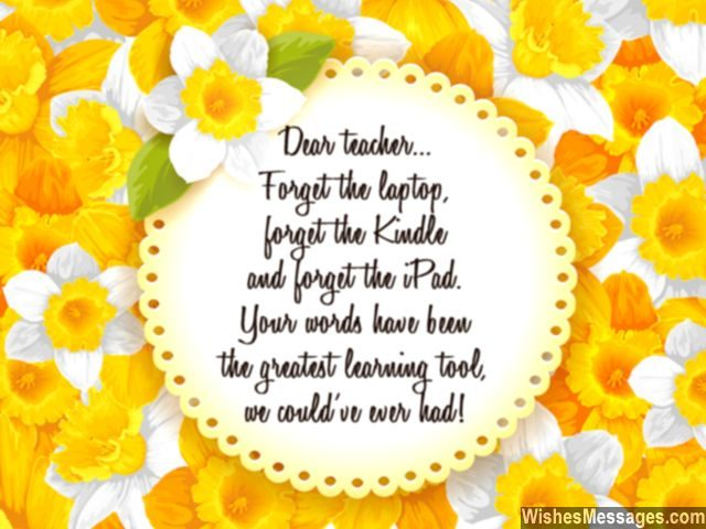 Sweet message for teachers you are the best greeting card