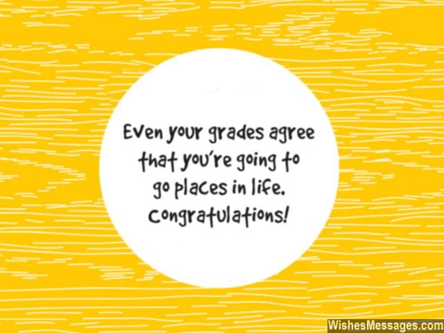 Congratulations quote for students encouragement good grades