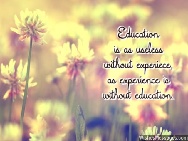 Education quote for students teachers and parents