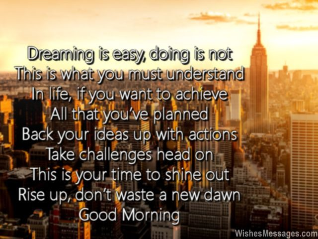 Good morning motivation for a successful day work