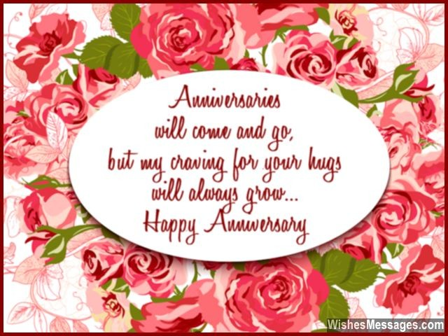 Happy Anniversary Greeting Card For Husband I Love Your Hugs
