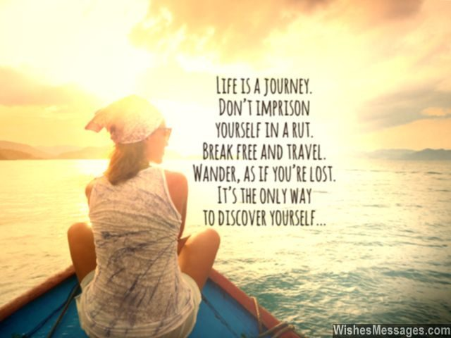 Life is a journey quote travel wander discover yourself