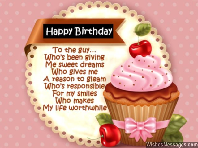 Best birthday poem for him sweet and cute