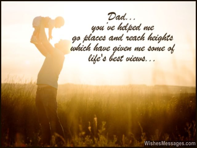 Sweet Message For Dad Lifting Up His Daughter