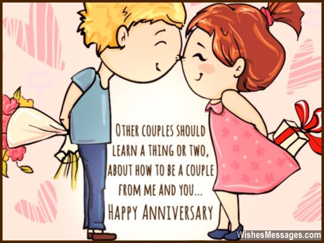 Happy anniversary greeting card him and her