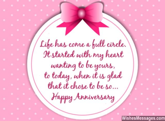Relationship anniversary card message for him