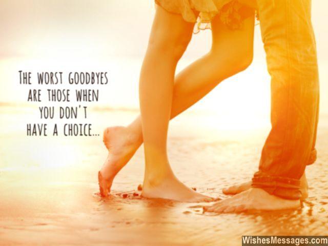 Couple last hug heartbreaking goodbye message for her