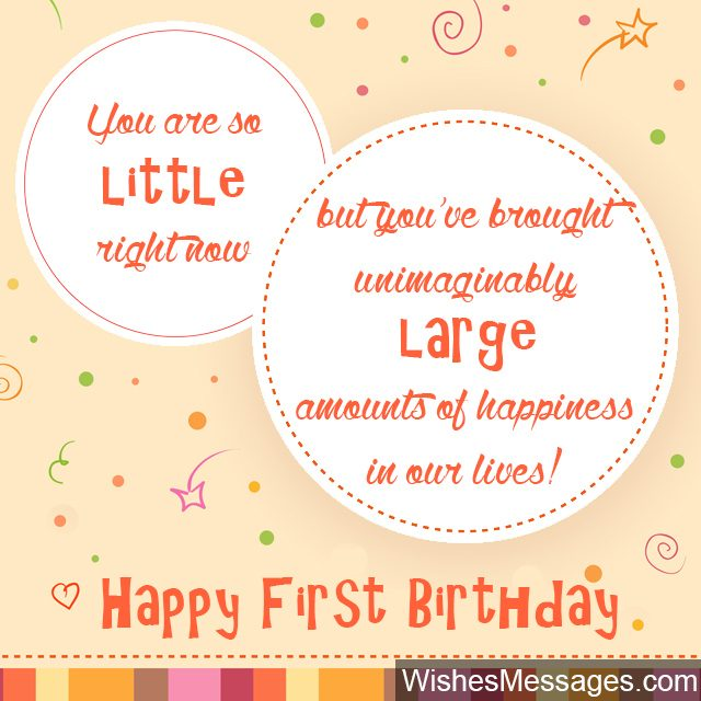 First birthday greeting card little child turning one year old