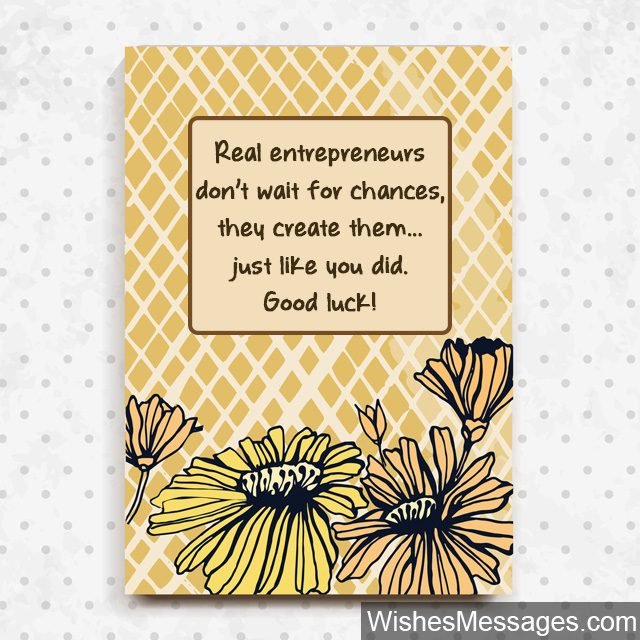 Good Luck wishes for entrepreneurs greeting card