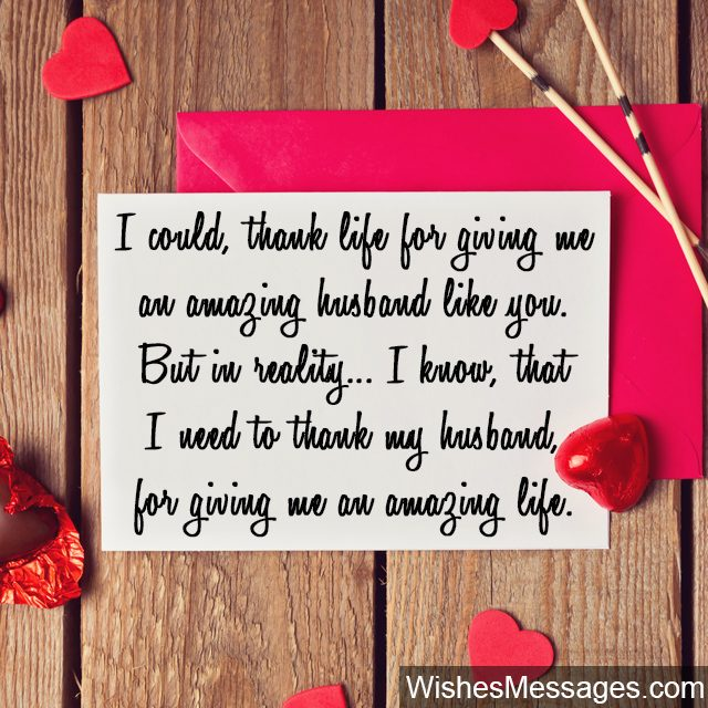 Thank You Messages For Husband Quotes And Notes For Him