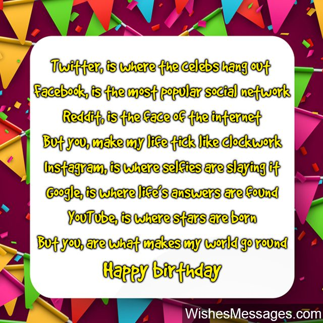Birthday Poems for Best Friends – WishesMessages com
