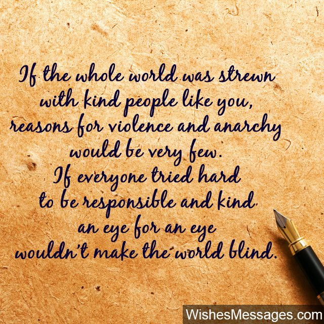 Kindness Quotes And Notes: Thank You For Being So Kind