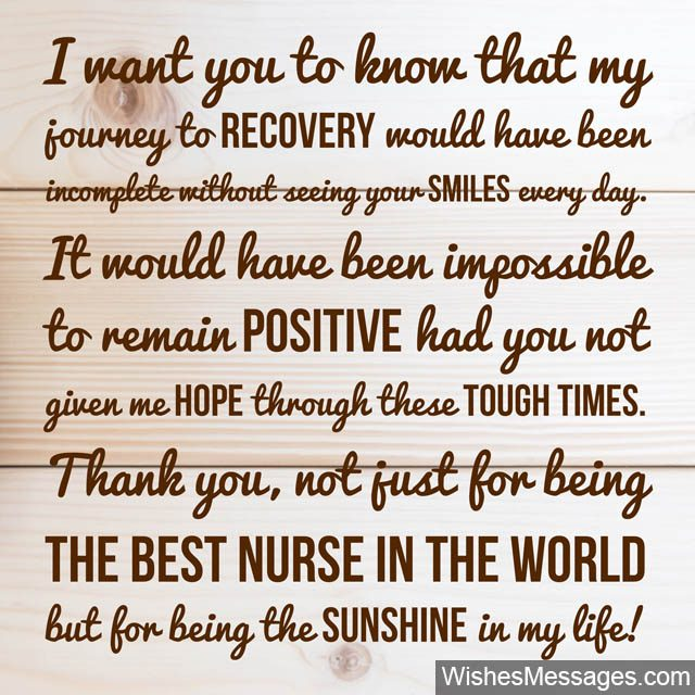 Quotes On Thank You Notes: Thank You Notes For Nurses: Quotes And Messages To Say